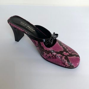 Mila Paoli Shoes - MILA PAOLI Purple & Black Python Maryjane Mules